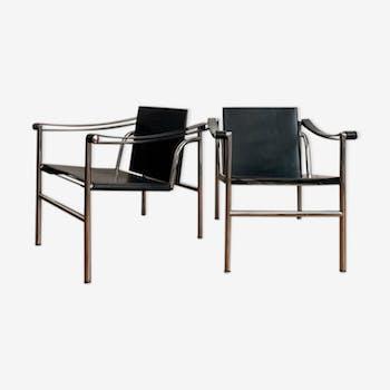 Paire de fauteuils LC1 de Le Corbusier édition Cassina