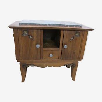 commode ann es 50 art d co restaur e bois mat riau bleu art d co urvq3im. Black Bedroom Furniture Sets. Home Design Ideas