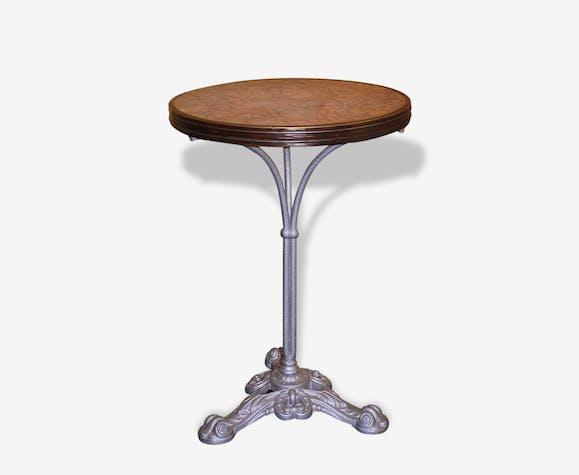table gu ridon de bistrot en fonte et dessus marbre. Black Bedroom Furniture Sets. Home Design Ideas