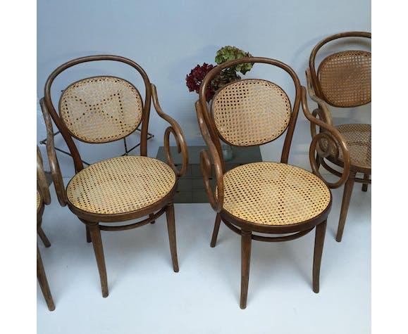 Chaise bistrot en bois courbé Radomsko bois (Matériau