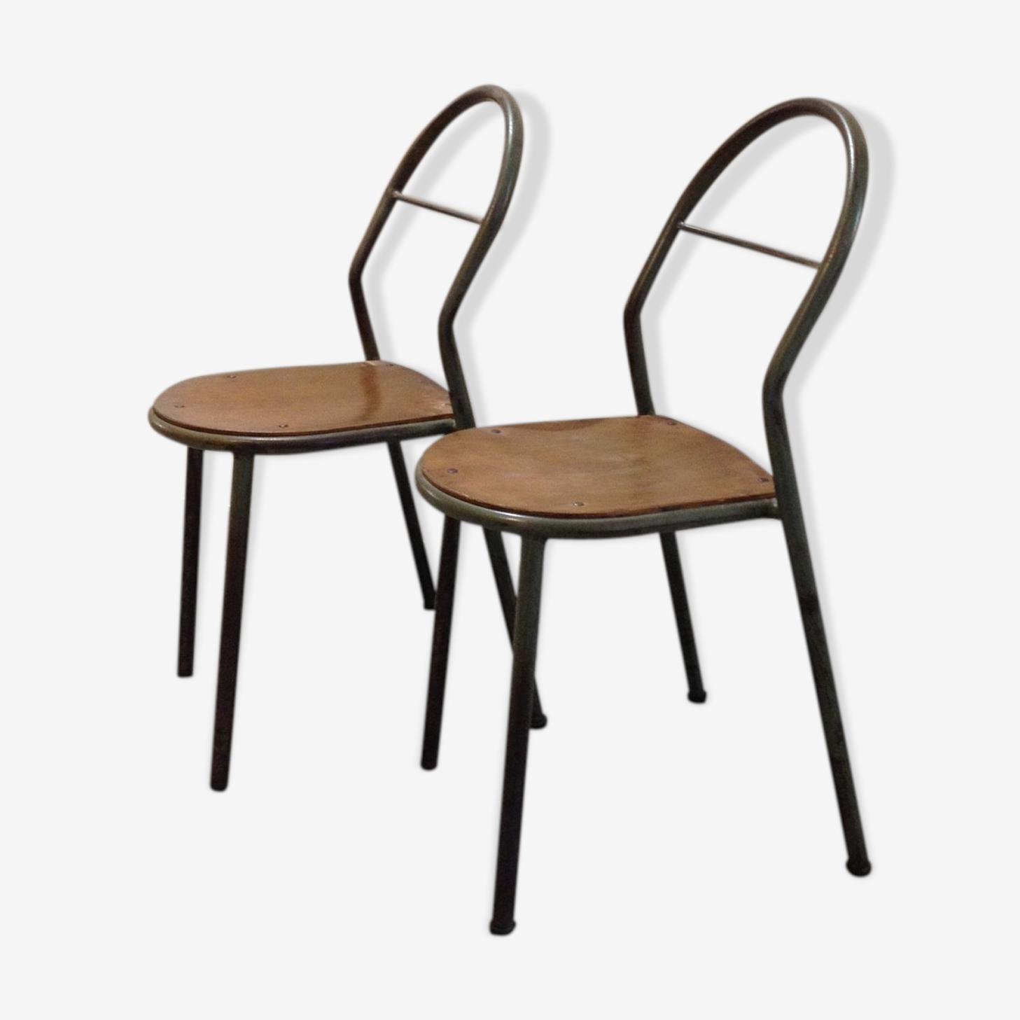 Paire de chaises d'école RMS