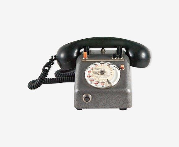 Téléphone Vintage Métal Et Combiné En Bakélite Sepco Paris Métal