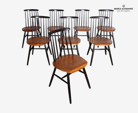 8 chaises Fanett d'Ilmari Tapiovaara années 50