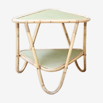 Side table in green pale 50 years