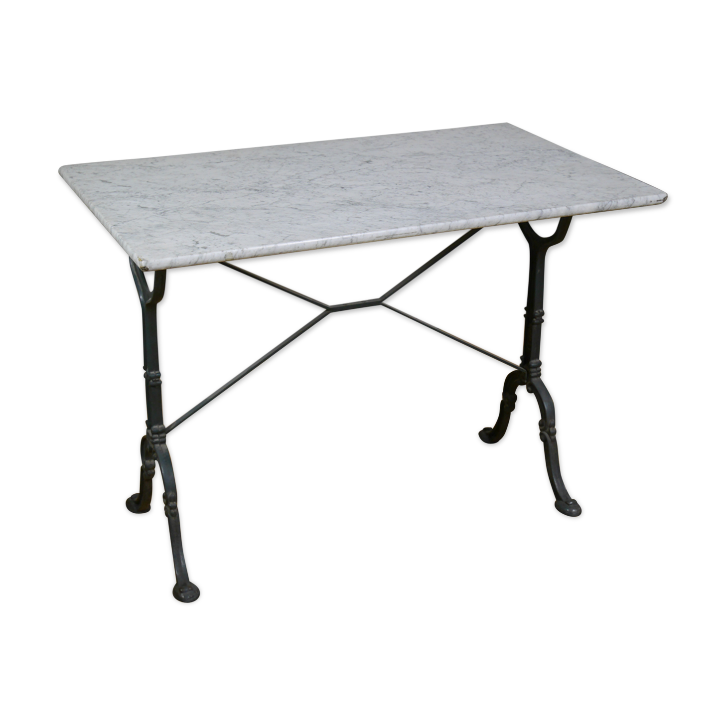 Table bistrot marbre ronde pied fonte good mignon table - Table bistrot marbre ronde pied fonte ...