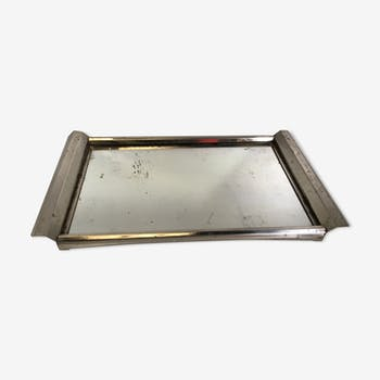 Old art deco service mirror tray
