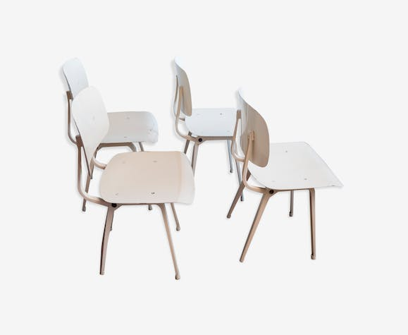 Set of 4 chairs designed by Friso Kramer in 1953 Revolt