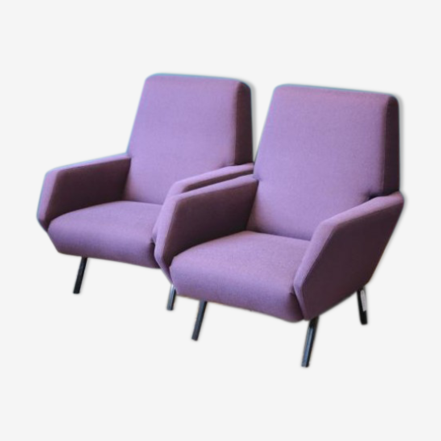 Pair of purple chairs, Italy, 1960 s