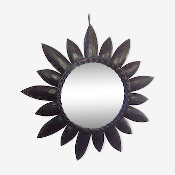 Miroir soleil en métal des années 60