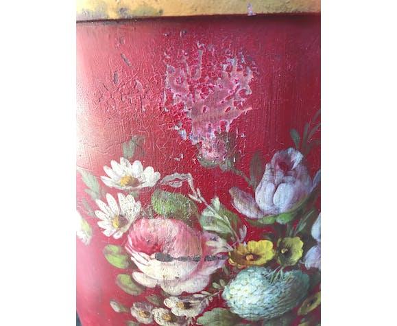 Cache-pot en tôle peinte