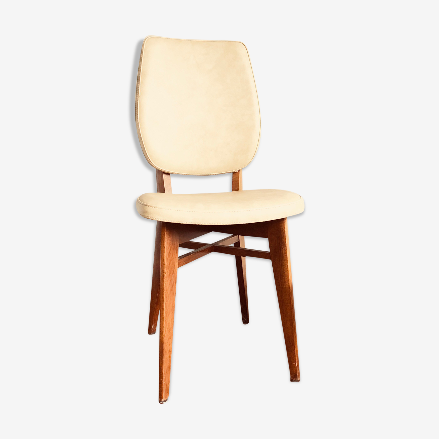 Chair wood and leatherette years 1958