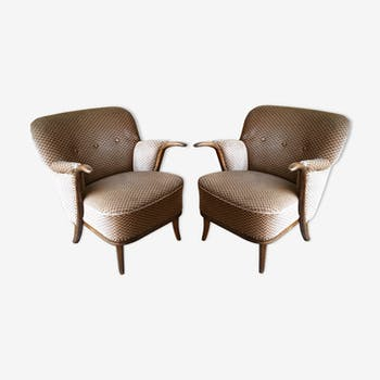 Lot de 2 fauteuils sculptural années 50 60