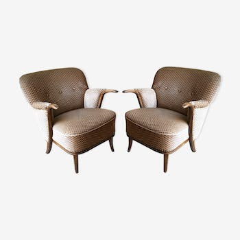 Lot of 2 armchairs sculptural 50 60 years