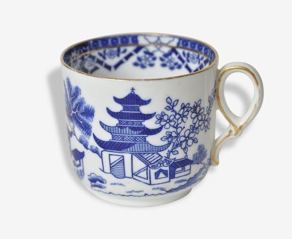 Bleue Signée Tasse Chinois Asiatique Royal Jardin Worcester nyvmw0N8O