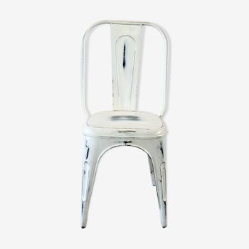Chair white industrial vintage weathered