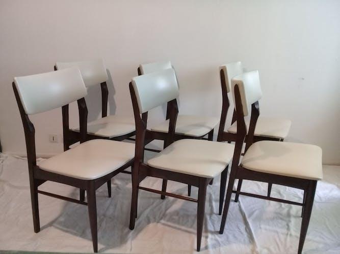 Suite de 6 chaises scandinaves