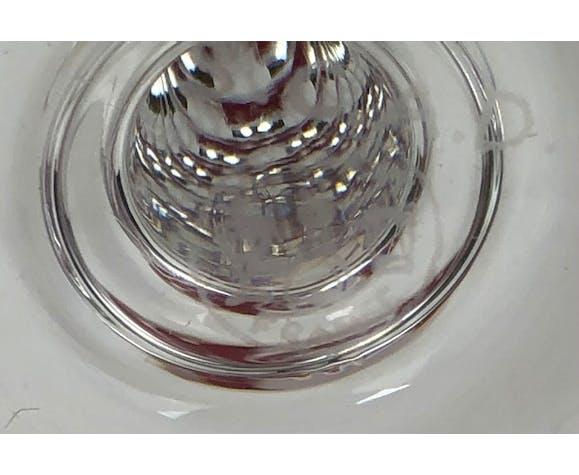 Série de six flûtes à champagne vintage, Baccarat