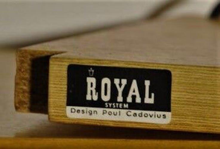 Unité de mur de Roomdivider Poul Cadovius en teck