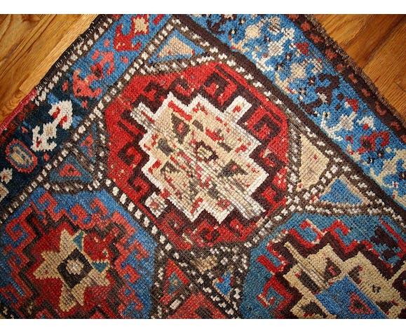 Collectible old Persian rug made Kurdish hand 106 x 140cm