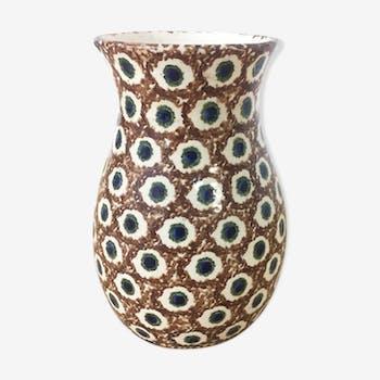 Pot floral en céramique 1960
