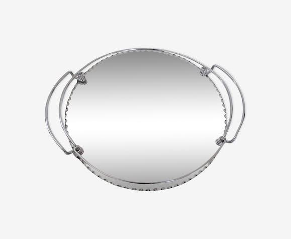 plateau miroir art d co vintage ann es 30 verre et cristal argent couleur art d co lhwr9j3. Black Bedroom Furniture Sets. Home Design Ideas