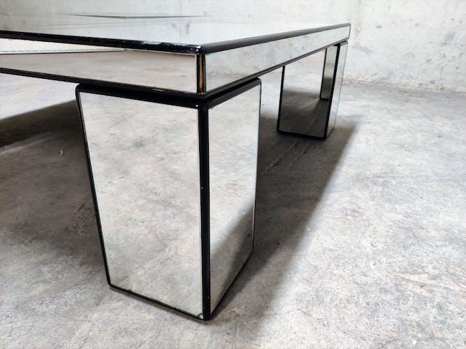 Table basse miroir vintage, années 1970