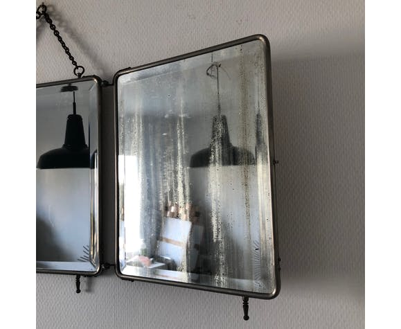 Miroir triptyque barbier 1930 37x88cm