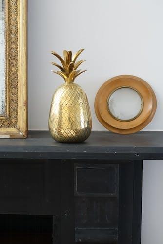 Ananas seau à glace en laiton