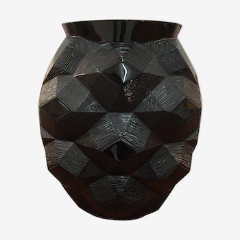 """Turtle vase """"black collection"""" Lalique"""