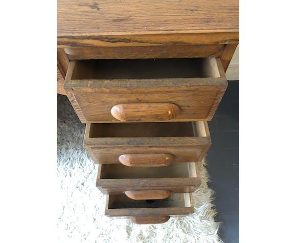 Bureau vintage en chêne, des années 60