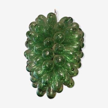 Suspension en forme de grappe de raisin verte