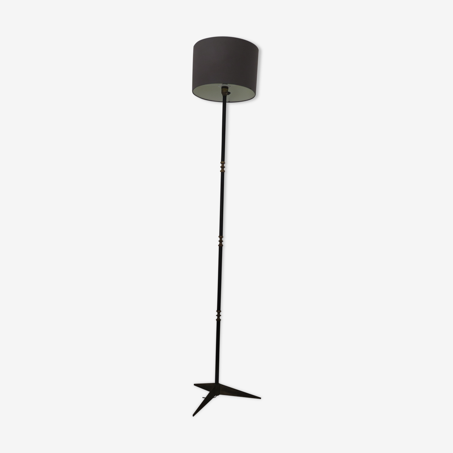Tripod floor lamp in brass and metal 50s 60s