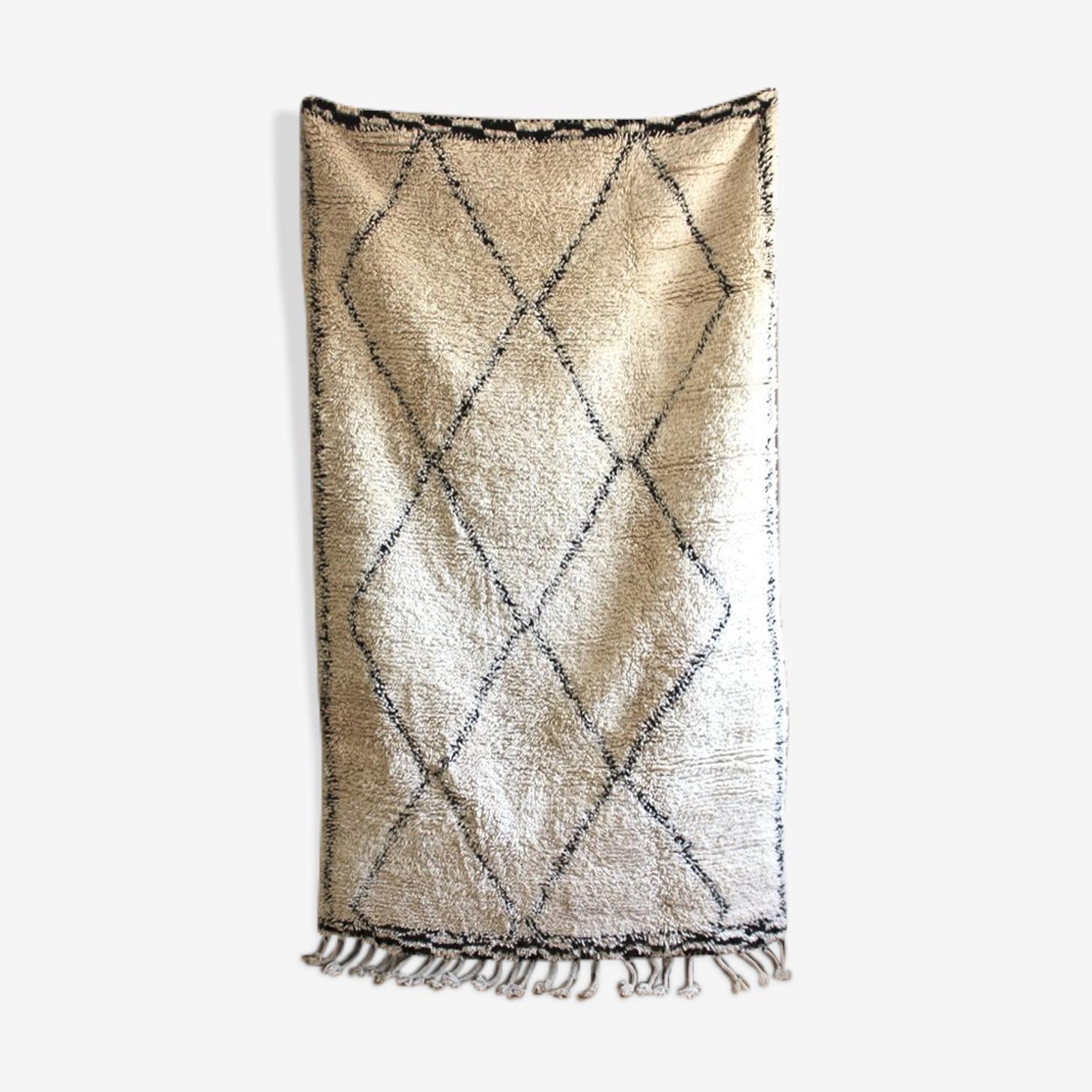 Beni Ouarain rug woven hand 246x145cm