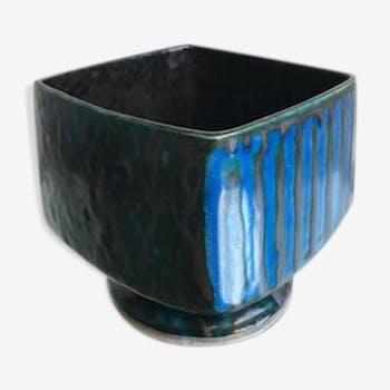 Stoneware bowl vase 1950