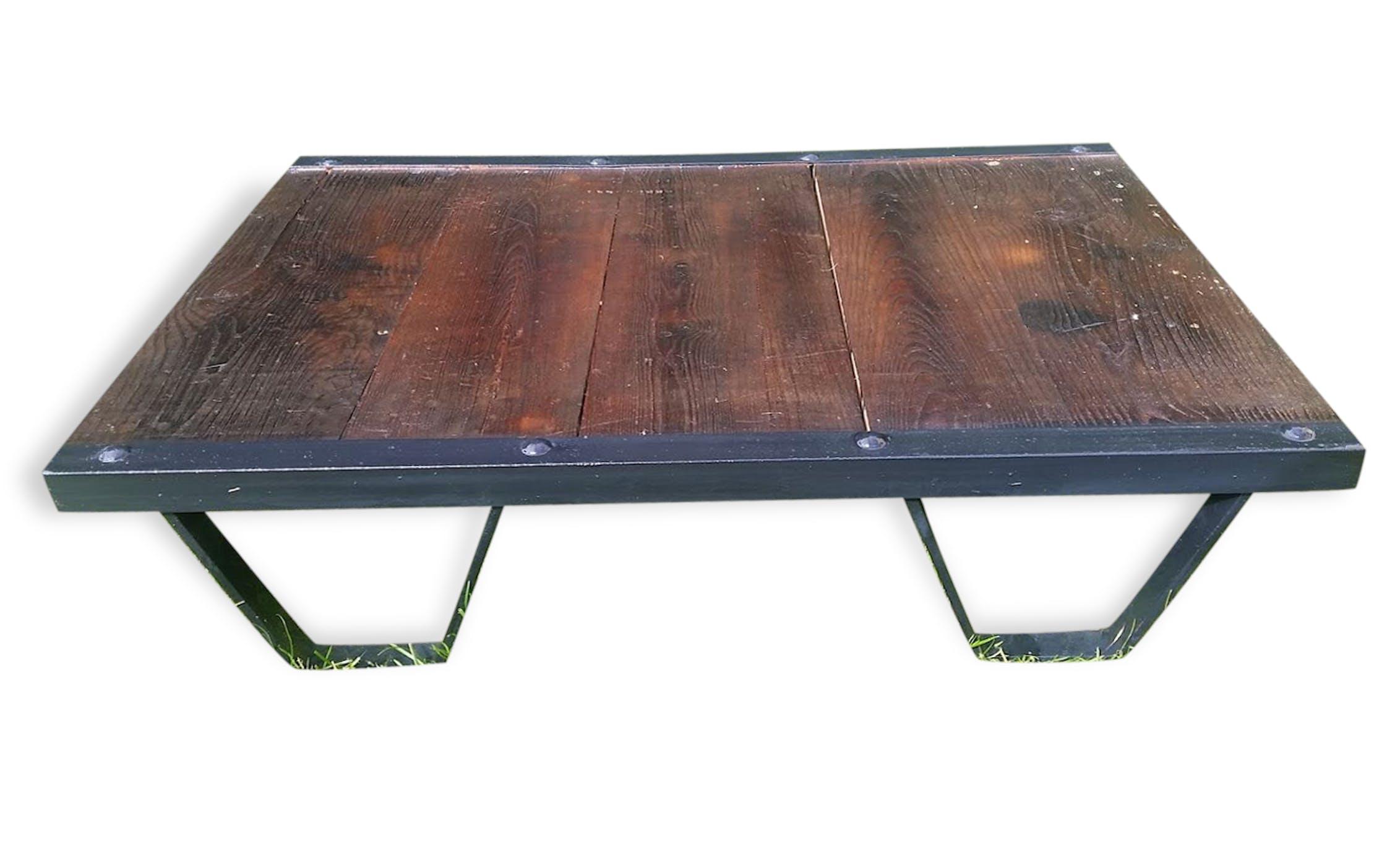 Table basse palette industrielle fashion designs - Table basse palette industrielle vintage ...