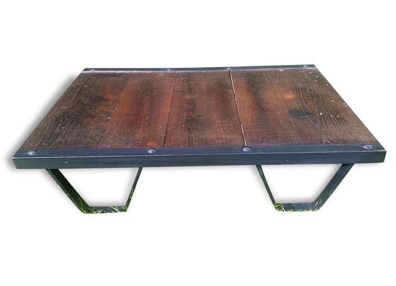 Table basse palette industrielle sncf ann es 50 acier et - Table basse palette industrielle vintage ...