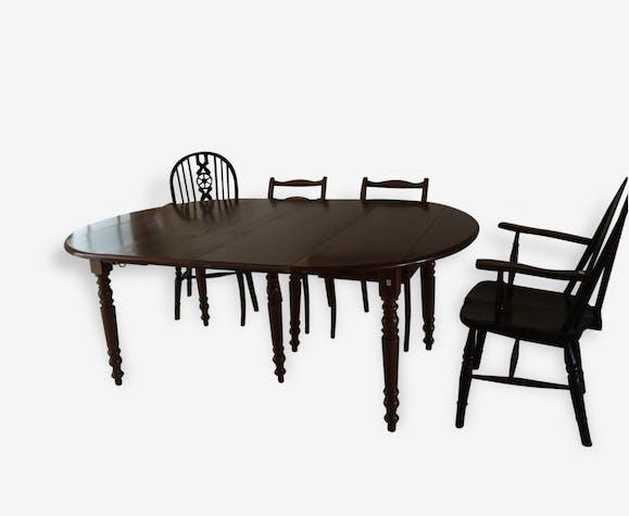 grande table ovale avec rallonges en htre - Grande Table Ovale