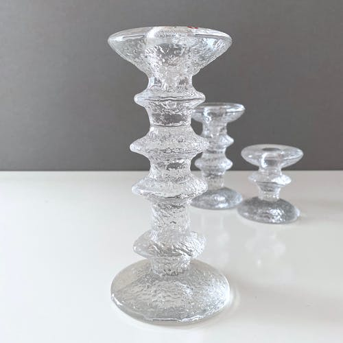 Iittala Festivo chandelier par Timo Sarpaneva, ensemble de 3, design scandinave