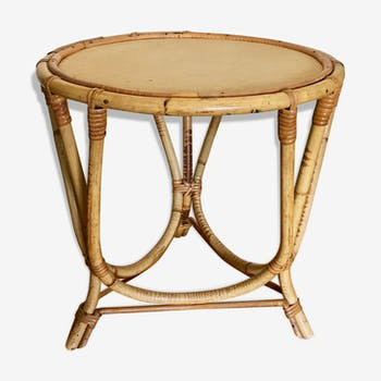 Child table bamboo and wicker