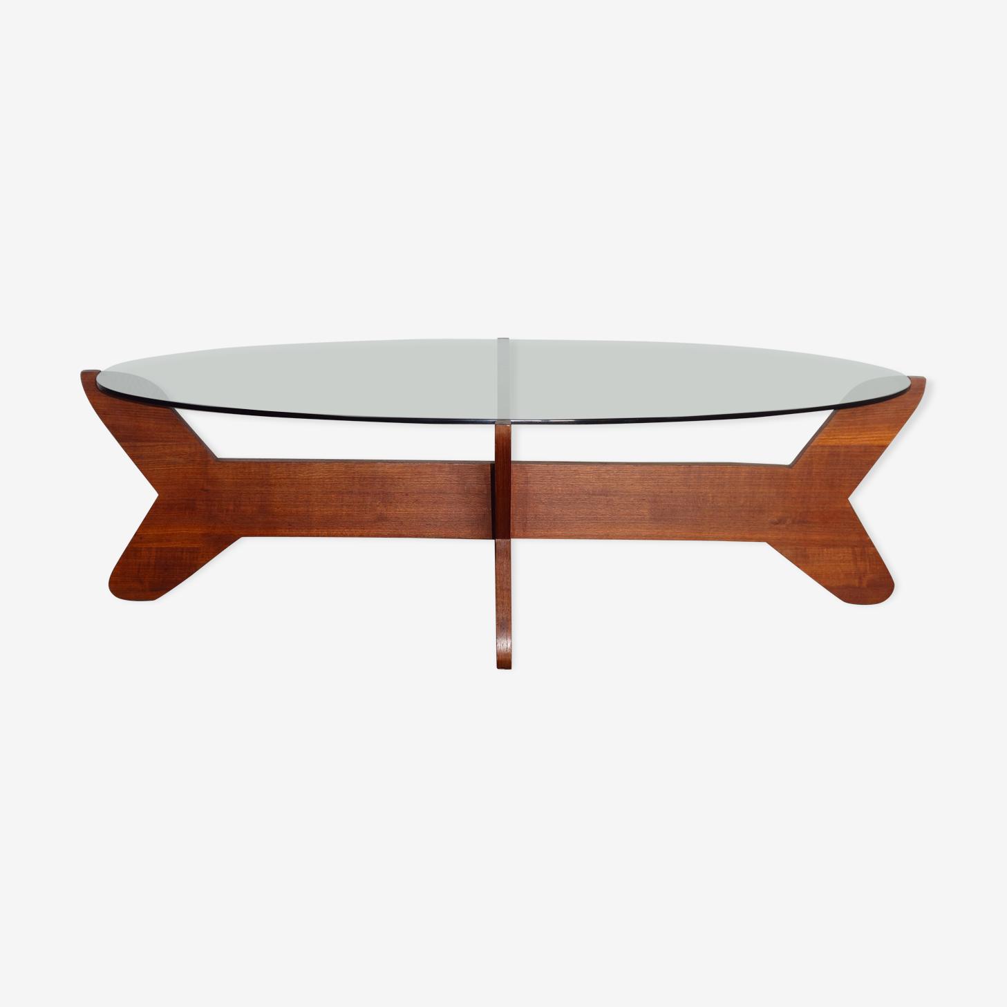Teak oval coffee table 1960 years