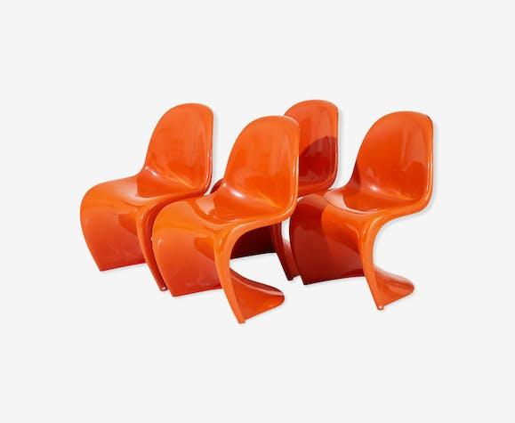 Suite de 4 chaises par Verner Panton