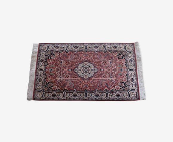 Tapis vintage en laine à franges au design persan bidjar 175x94cm