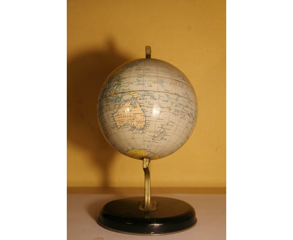 """Mappemonde """"Chad Valley"""" made in England 1950/60"""