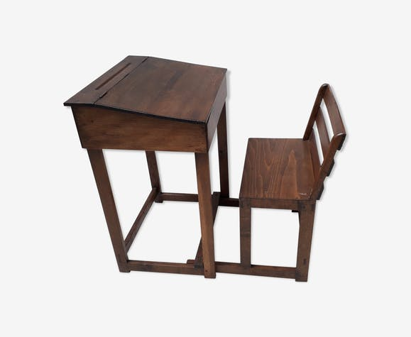 School boy's desk with sliding chair