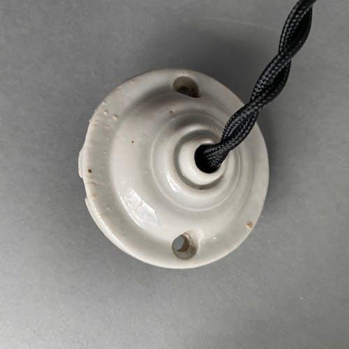 Ancienne suspension flamme Art-deco