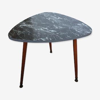 Table basse tripode effet marbre