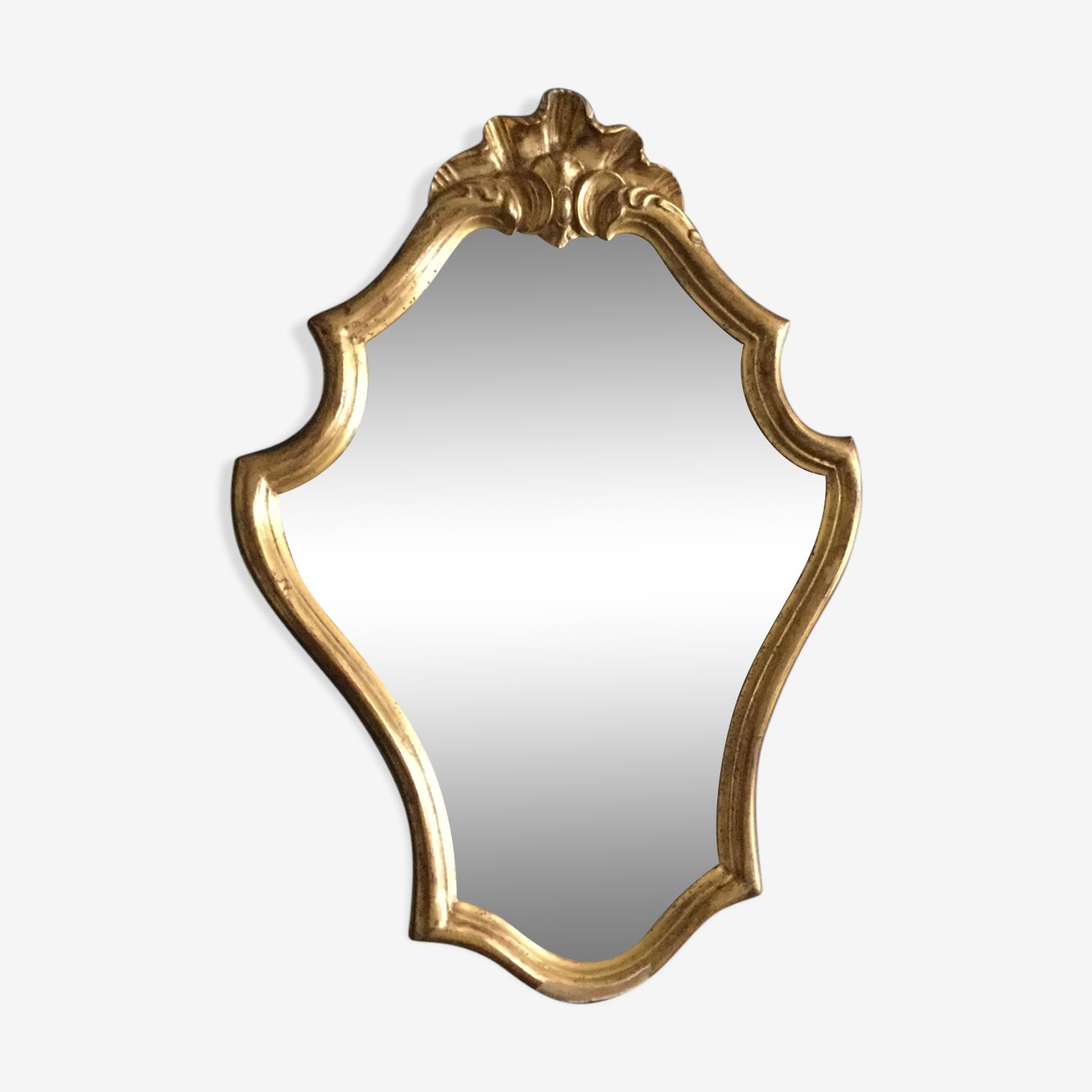 Miroir doré Louis XV
