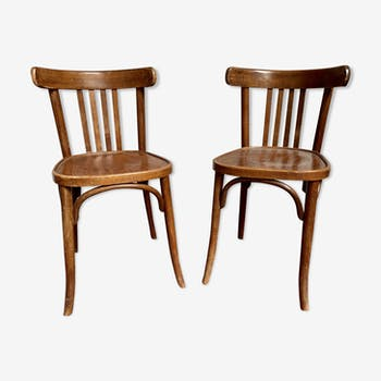 Paire de chaises de bistrot bentwood