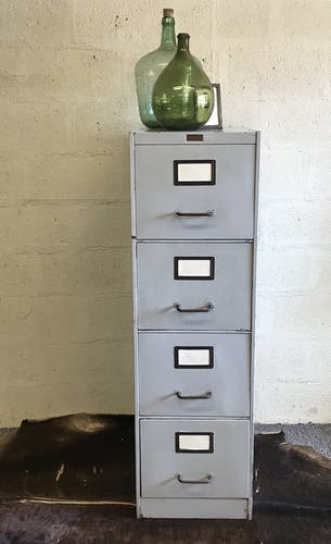 Drawer Cabinet Ronéo metal and brass