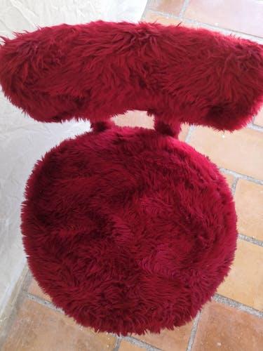 Chaise moumoute Pelfran Rouge